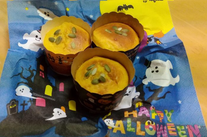★ハロウィンにおすすめ かぼちゃマフィン(7~8個分)